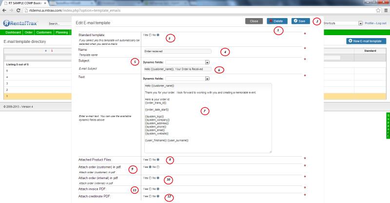 User Manual- Edit Email Templates - Rentaltrax - Cloud-Based Rental ...